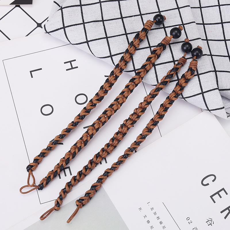 2019NEW Hot Sell Multi Layer Weave 100 Leather Bracelet Men And Women Wild Personality Fashion Retro Bracelet Jewelry Wholesale in Charm Bracelets from Jewelry Accessories