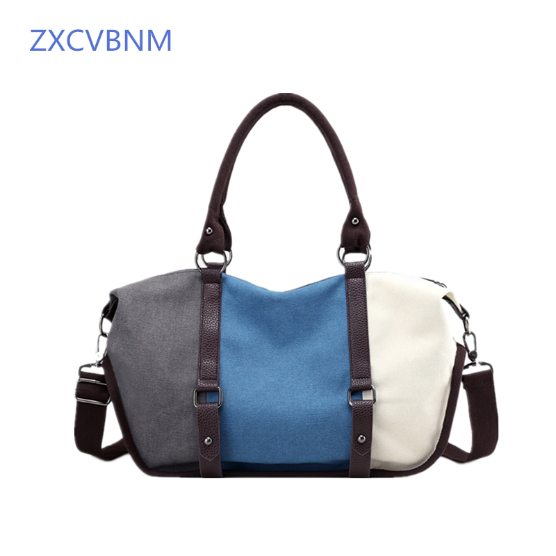 Shoulder Bags For Tide Casual Crossbody Bags Simple Soft Canvas Wearproof Hand Bag CZ024