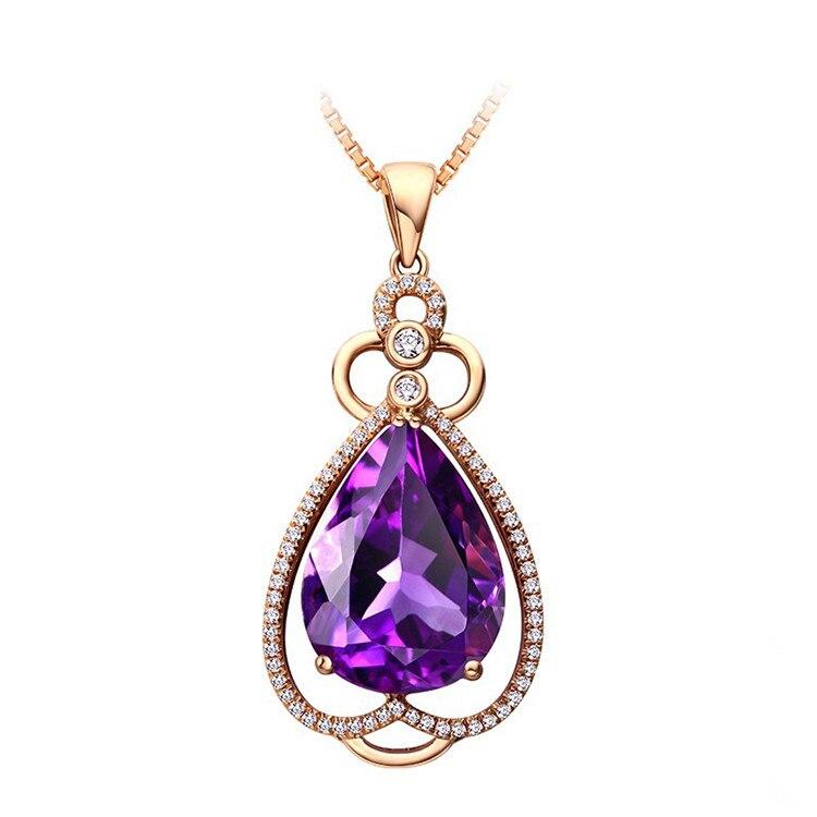 Das Beste Weibliche Kristall Lila Herz Anhänger Halskette Rose Gold Gefüllt Strass Zirkon Shinning Halsketten Für Frauen Beste Liebhaber Choker