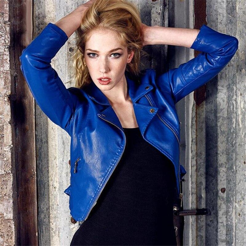 Fashion Faux   Leather   Jackets And Coat Short Long Sleeve Women'S Pu   Leather   Coat Spring Autumn Fashion Spliced Outwear Coat Ma153