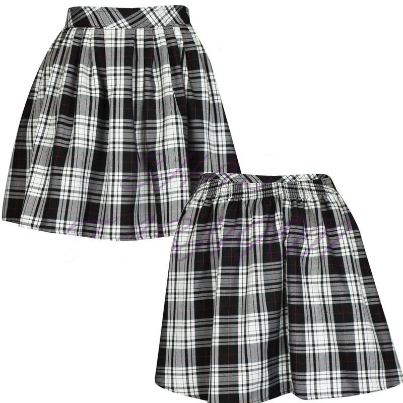 Mini korean Preppy Girl font b Women b font font b Skirt b font Plaid print