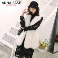 Fake Fur Vest 2018 Women's Winter Jacket Faux Fur Vest Coats Long Ladies Fur Overcoat White Female Gilet