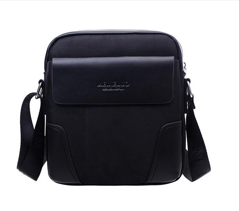 New Men leather famous brand Messenger Bags Fashion Casual Business small Shoulder bags for man,Mens Travel Bags IPAD JIE-051