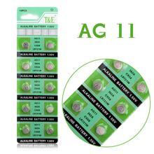 Bateria de Célula tipo Moeda Lítio para Relógios S12 de Longa 10 PCS Ag11 Lr721 362 Sr721 162 Duração 1.55 V Botão de Relógios Calculadoras 57% OFF