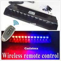 Castaleca 3 Color 12 LED Windshield Warning Light Car Flashing Strobe Lightbar Police Lights Truck Beacons