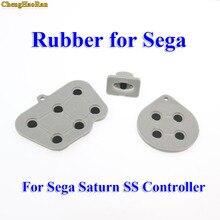 ChengHaoRan 20 100 définit des tampons en silicone conducteur pour Sega Saturn SS contrôleur ABXY D Pad caoutchouc