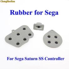 ChengHaoRan 20 100 juegos de almohadillas conductoras de silicona para Sega Saturn SS controlador ABXY D Pad Rubber