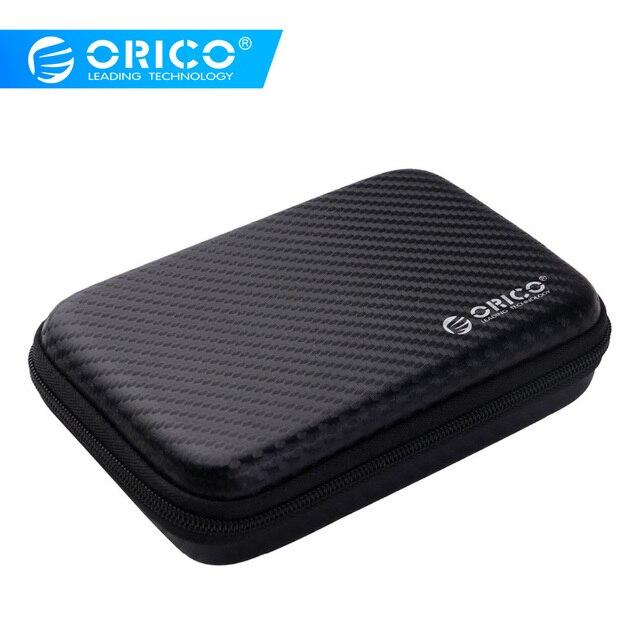 Funda de disco duro ORICO 2,5 bolsa de protección portátil HDD para disco duro externo de 2,5 pulgadas/auricular/disco U funda de disco duro negro