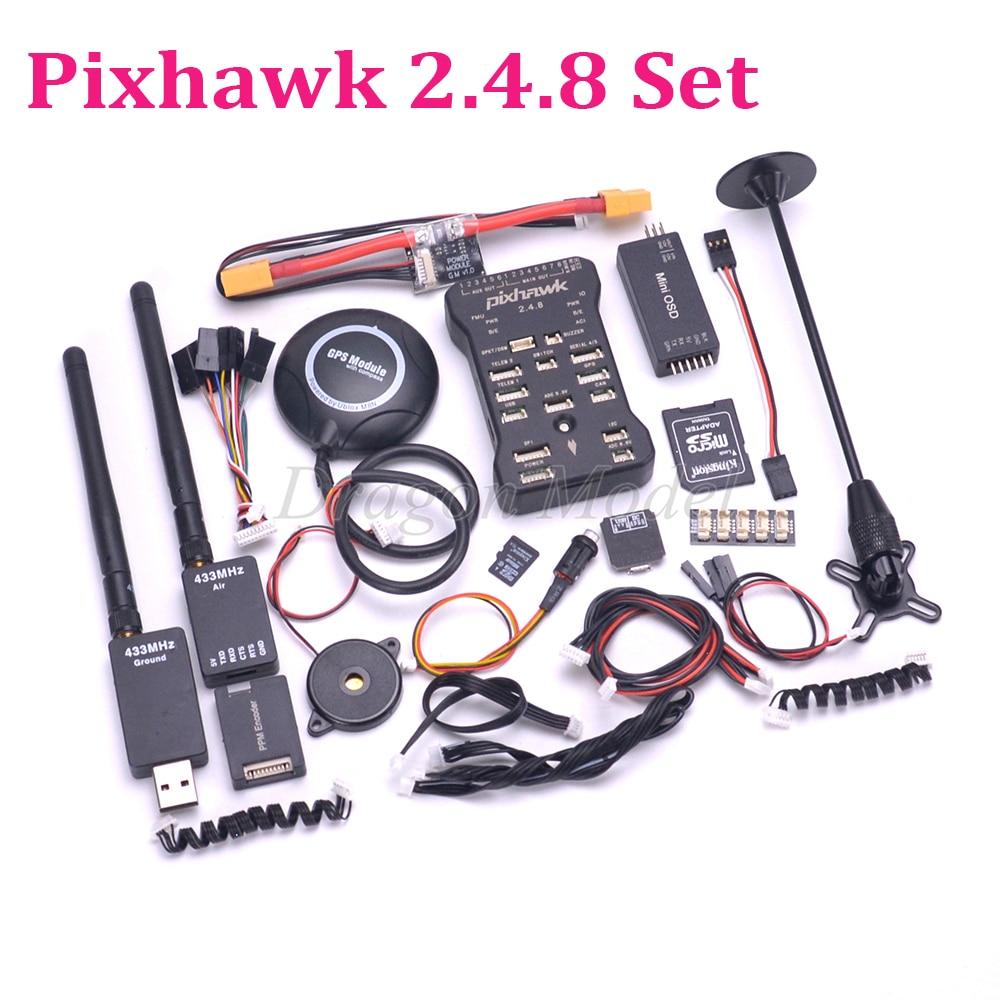 Pixhawk PX4 PIX 2 4 8 32 Bit Flight Controller 433 915 100mw Telemetry M8N GPS