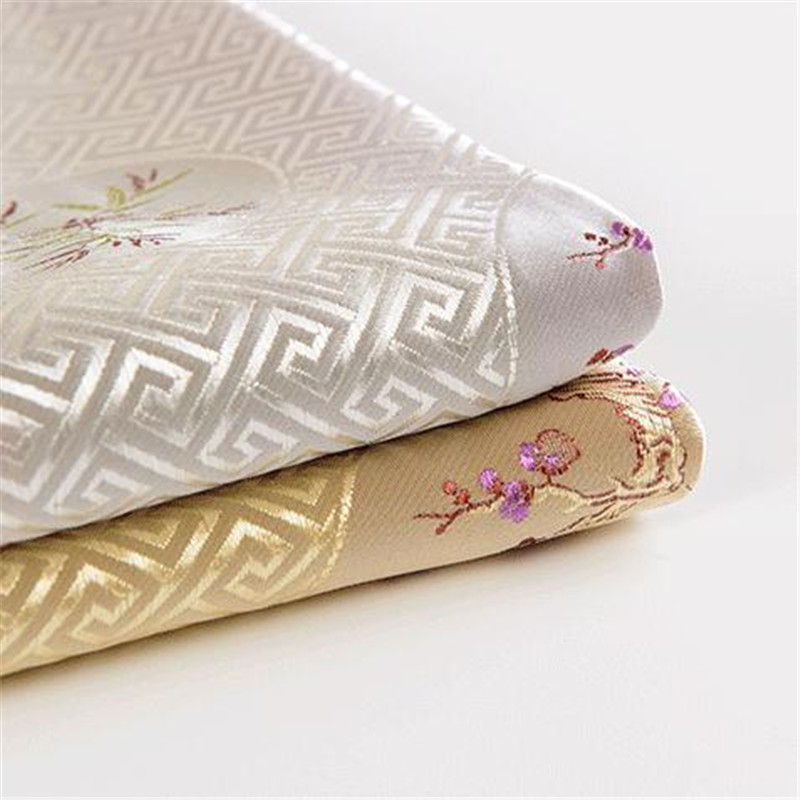 CF47 5 Yards 115 cm de large tissu de brocart Jacquard tissu de mode chinoise tissu de mariage tissu National Cosplay tissu Antique