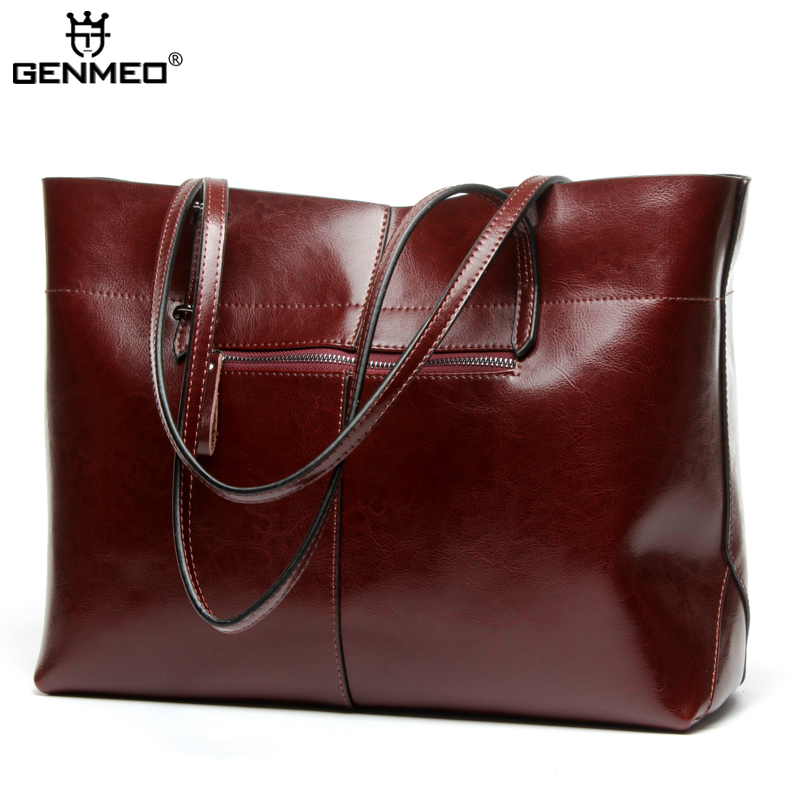 GENMEO New Arrival Luxury Handbags Women Bags Designer Famous Genuine Leather Bag for Women 2019 Bolsa FemininaGENMEO New Arrival Luxury Handbags Women Bags Designer Famous Genuine Leather Bag for Women 2019 Bolsa Feminina