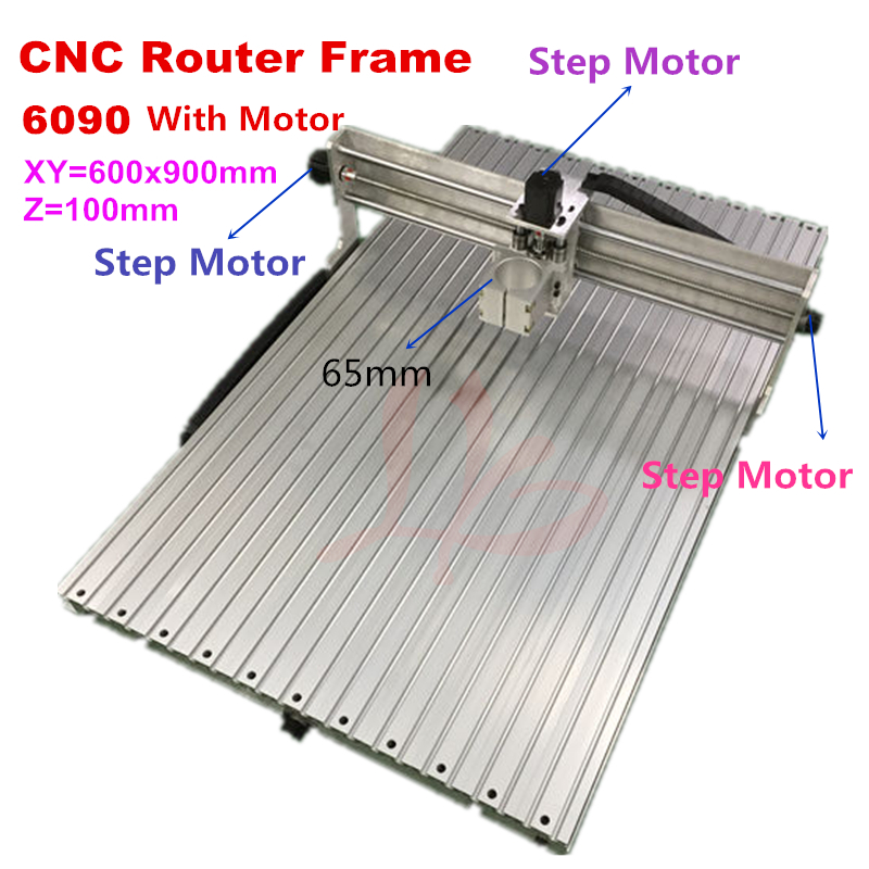 CNC Frame 6090 Engraver Milling Machine DIY 6090 With Stepper Motor Ball Screw For CNC 9060 Woodworking Area 600X900X100mm