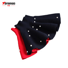 2016 New Fall and Winter Children's Clothing Girls Fashion Casual Knit Skirt Bottoming Pearl Princess Tutu Skirts Wild Child