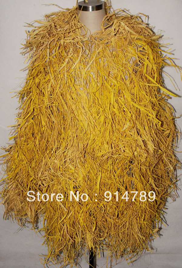 Costume Props 32381 Enthusiastic Camouflage Net Ghillie Suit With Hat Hay Straw Stack Strawy Camo