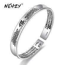 NEHZY nouvelles dames mode bracelet en argent de haute qualité vintage lotus coeur bouddha Thai bracelet en argent bijoux