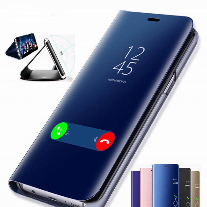 Clear View умный зеркальный Чехол С Откидывающейся Крышкой для samsung Galaxy S9 S8 S7 S6 Edge Plus Note 9 8 для J3 J5 J7 A5 A6 A7 A8 2017 2018 чехол