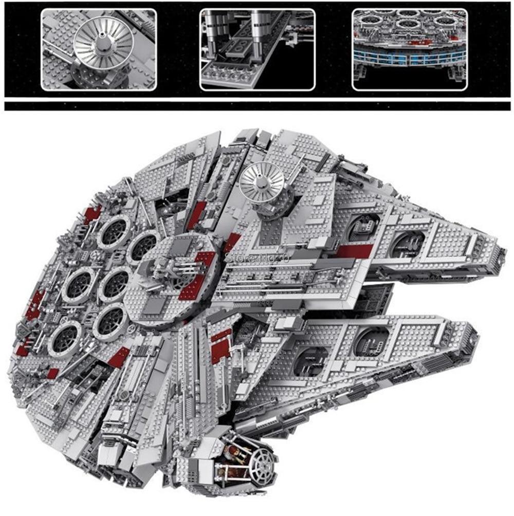 35002 5382pcs star wars millennium force awakens lele 5 figures building block  10179 Bricks Toy-in Blocks from Toys & Hobbies    1