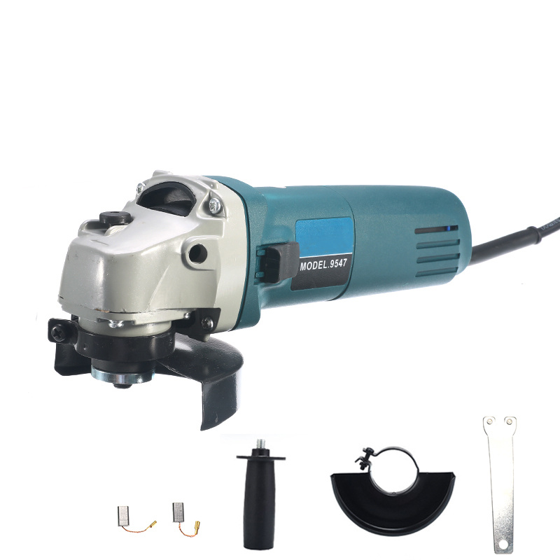 6 Speed Adjustable Electric 100 Angle Grinder + M10 Chainsaw Woodworking Cutting 1000W 11000rpm Chainsaw Bracket Change Grinder