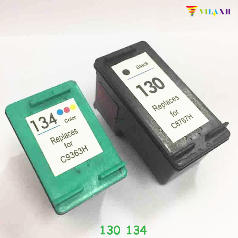 vilaxh 130 134 Compatible Ink Cartridge Replacement for HP 130 134 for Deskjet 6543 5743 6623 5743 6843 6983 7313 7413 printer