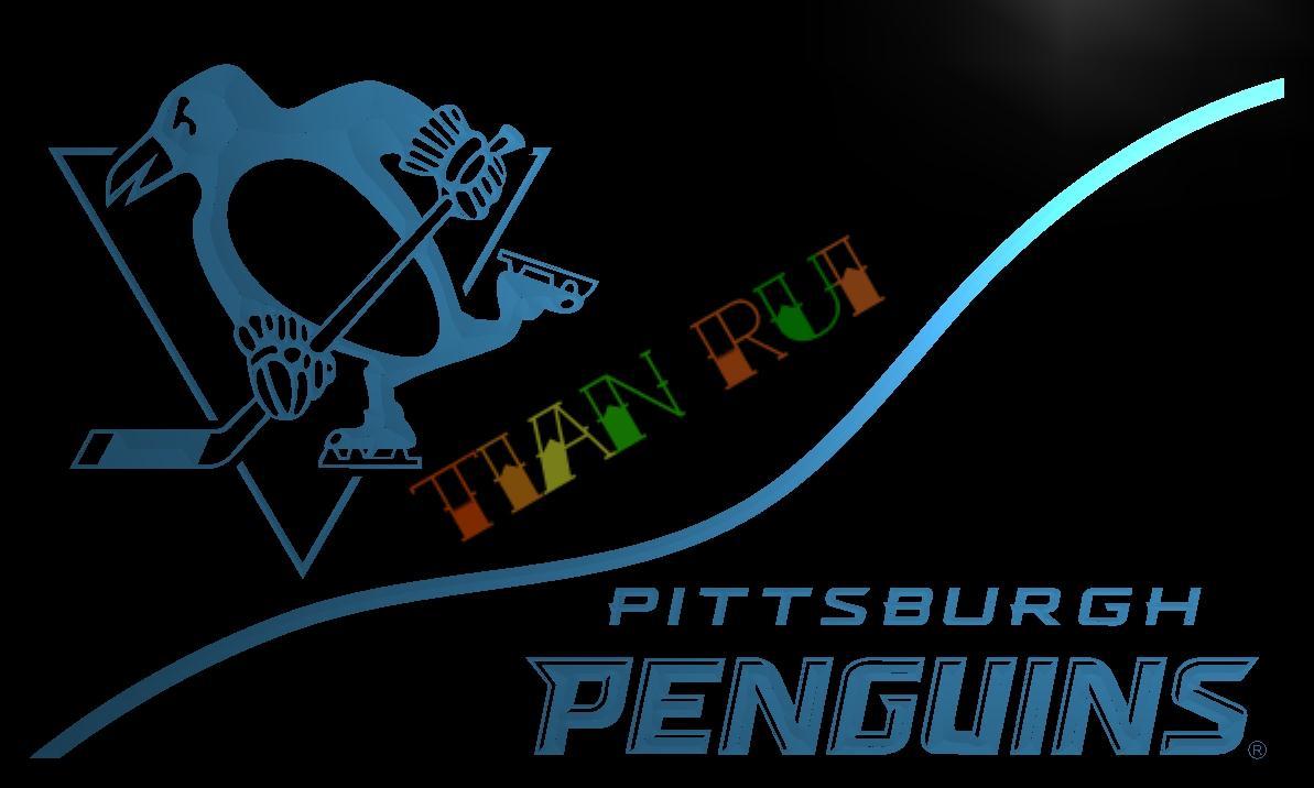 LD531  Pittsburgh Penguins LED Neon Light Sign home decor crafts. Pittsburgh Penguins Neon Sign Promotion Shop for Promotional
