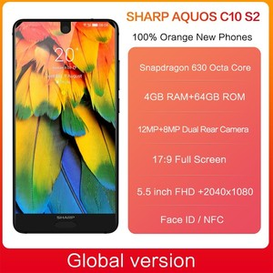 Image 2 - هاتف ذكي شارب أكوس S2 C10 يعمل بنظام الأندرويد 8.0 يدعم 4G بشاشة 5.5 بوصة FHD + سنابدراجون 630 ثماني النواة هاتف محمول 4 جيجابايت + 64 جيجابايت NFC