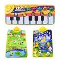Niños manta de Juegos Multi-Color Color Embroma el Animal Del Bebé Del Piano Musical Touch Juego Cantando Gimnasio Alfombra de Juguete de Regalo envío gratis