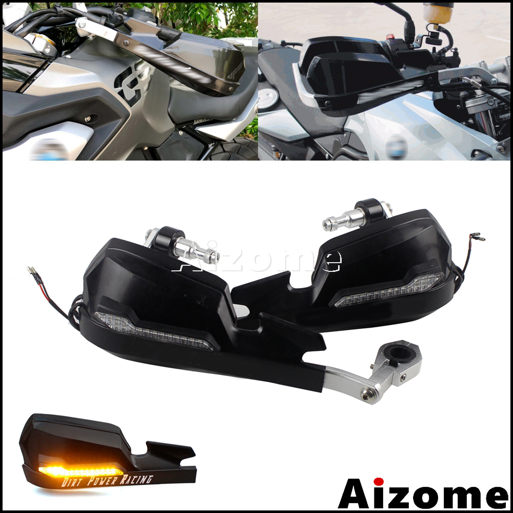 "LC 22mm Motorcycle Hand Guard W// Mounting Kits 7//8/"" Steel Handlebar One Pair"