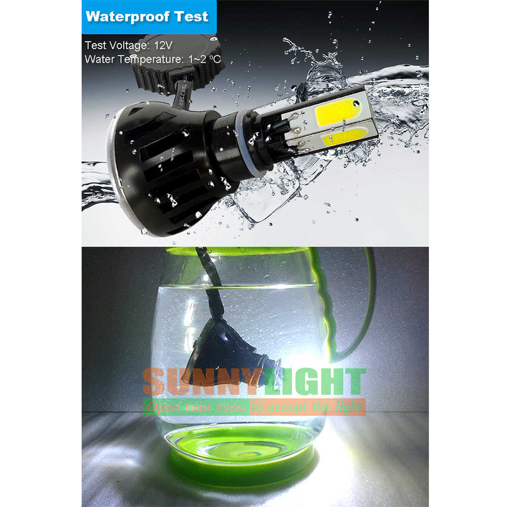 CNSUNNYLIGHT LED Motorcycle Headlight Bulb H4 H7 H6 p43t BA20d p15d 12V 2400LM High Brightness Replace Motor Head Light