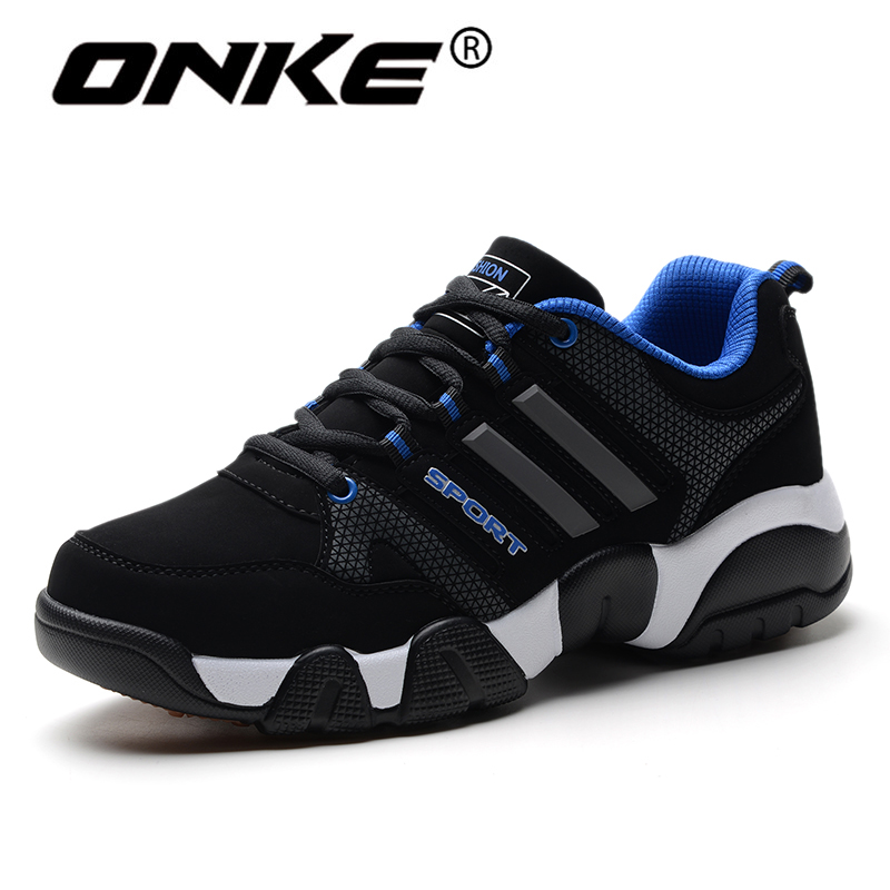 Onke Winter Running font b Shoes b font Men Suede Leather Sport font b Shoes b
