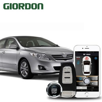 Corolla 2013 car accessories Keyless Entry Comfort System PKE Phone APP Remote Start Car Engine Car Alarm Push  913