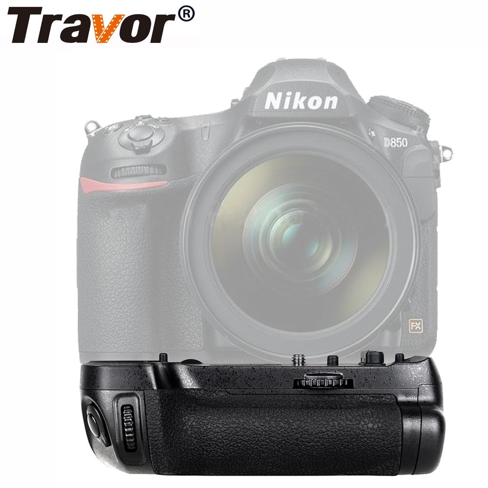 Travor Camera Vertical Battery Grip Holder For Nikon DSLR D850 Battery Handle Replace MB-D18 Work With EN-EL15 Battery travor vertical battery grip holder for nikon d850 mb d18 dslr camera battery handle work with en el15 battery