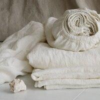 Мыть чистый лен Простыни детские дети Queen кровать оборудована Простыни кровать Простыни King Размеры двойной Льняные ткани Постельные принад