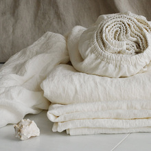 Washed Pure Linen Sheets Children Queen Bed Fitted Sheet Bed Sheet King Size Double Flax Linen Bedding Bed Cover Bedspreads