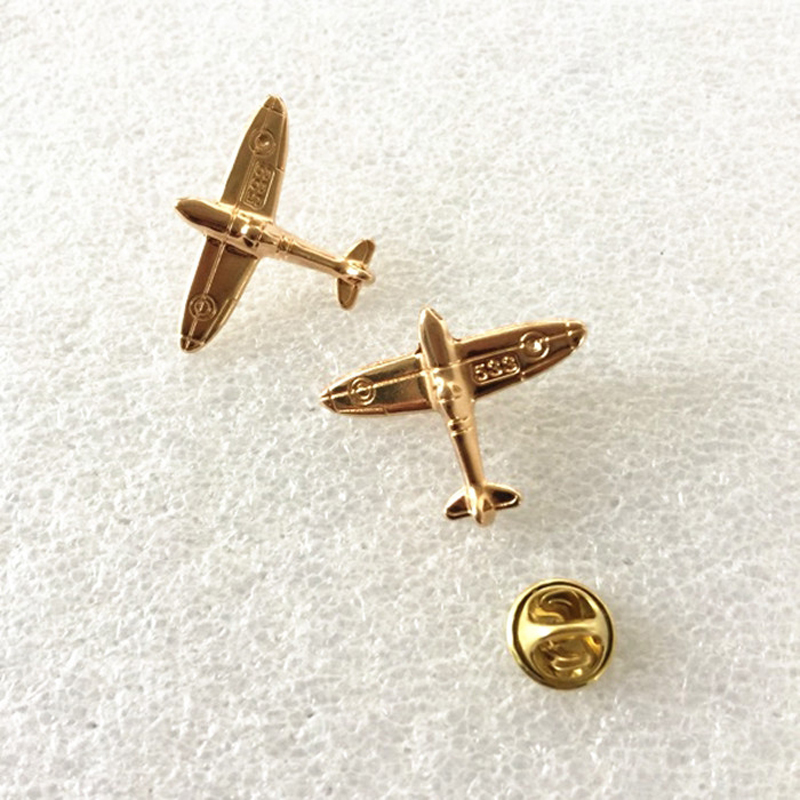 1PC Alloy Gold Color Airplane Air Plane Brooches Pins and Brooch Badge Safety Lapel Pins For Women Men Kids Hijab Jewelry Gifts image