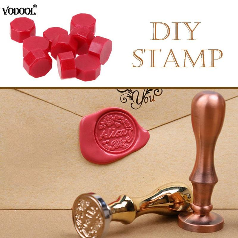 100pcs/Lot Retro Octagon Sealing Wax Beads Stamping Envelope Decor Wax Seal