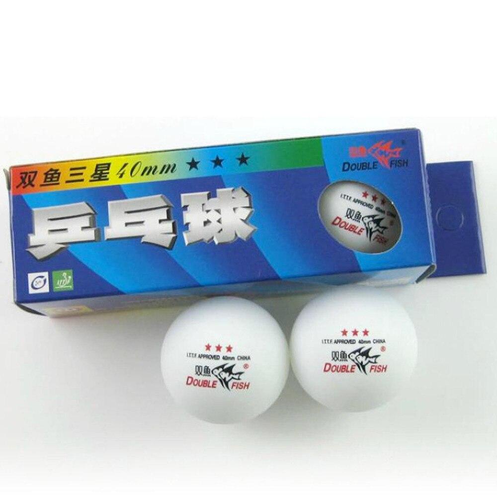 c1713291bf 30x doble pez 3 estrellas 3 estrella 3 srar 40mm bolas de tenis de mesa  blanca para Ping Pong