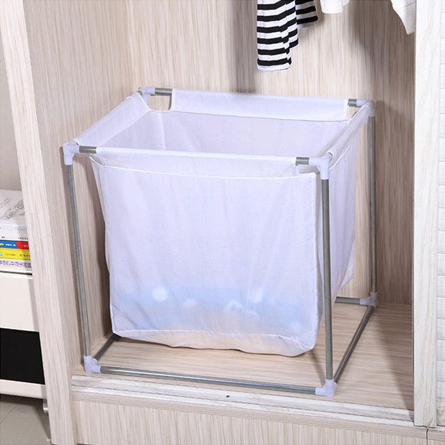2sets Home Laundry Storage Basket Portable Large White Dirty Clothes Bathroom Folding Square In Baskets From