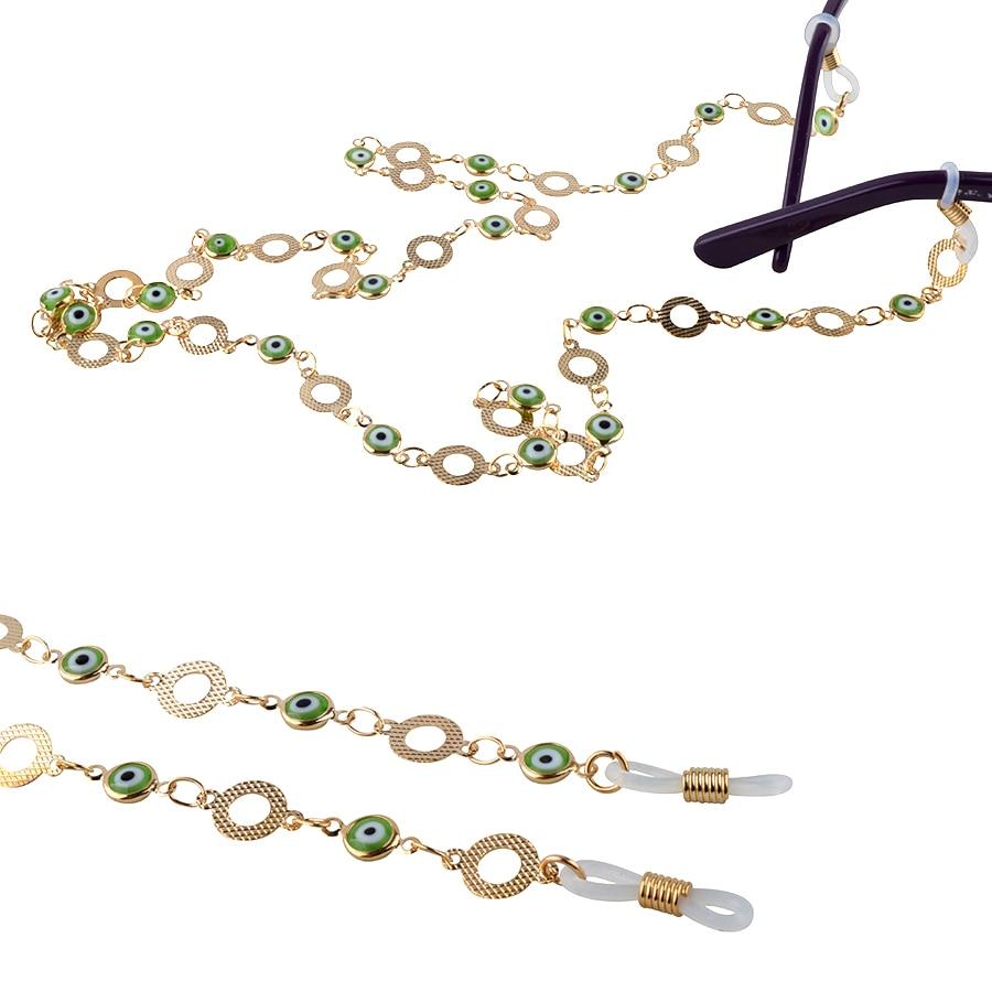 Herren-brillen Einzelhandel Lila Perlen Sunglass Glas-brille Spektakel Kabel Umhängeband String Kette Link Halter Bekleidung Zubehör