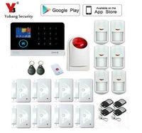 Yobang Security WiFi Alarm GSM GPRS SMS Wireless Home Security Intruder Alarm System with Wireless Strobe siren