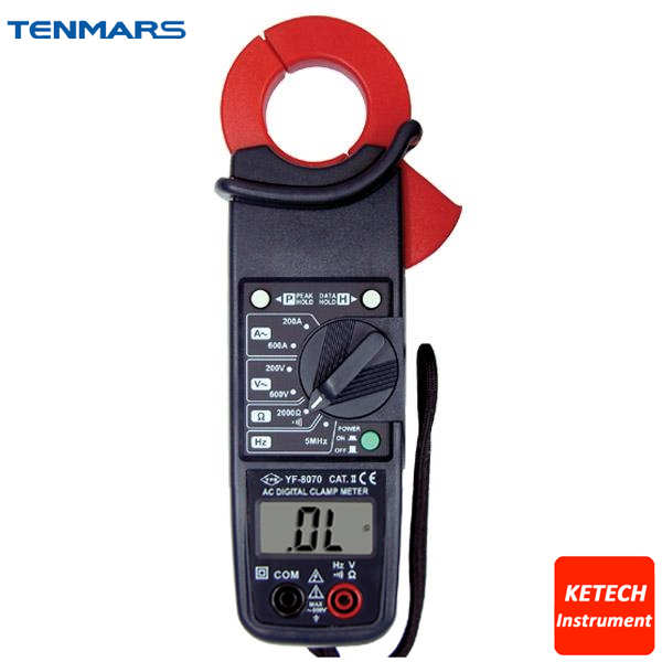 ACV, ACA, Resistance, Freq Tester ,600A AC Clamp Meter YF8070 prof clamp meter ac a 20a 200a 600a tes3010