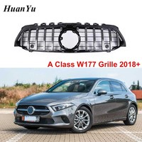 New GT R Style Replacement Grille for Mercedes benz A class W177 Front Bumper Racing Grills A180 A200 A250 2018 2018 no Camera