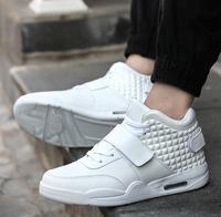 Hip hop street fashion men hip hop shoes luxury brand leather sneakers black white male walking shoes non slip breathable shoes