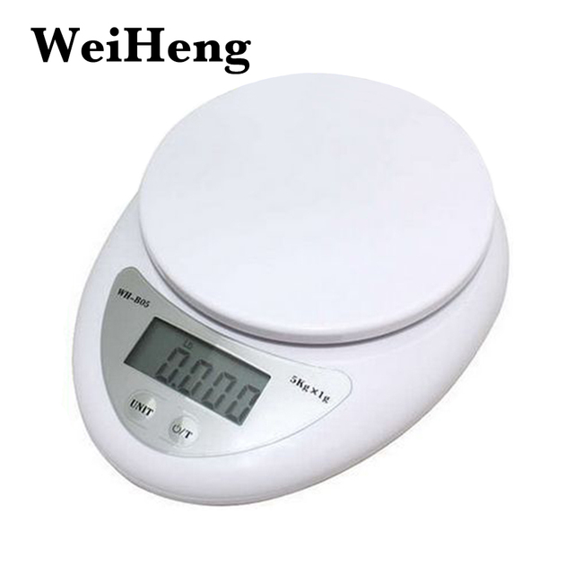 WEIHENG Kitchen 5000g/1g 5kg Food Diet Postal Kitchen Digital Scale balance Measuring weighing scales LED electronic scales