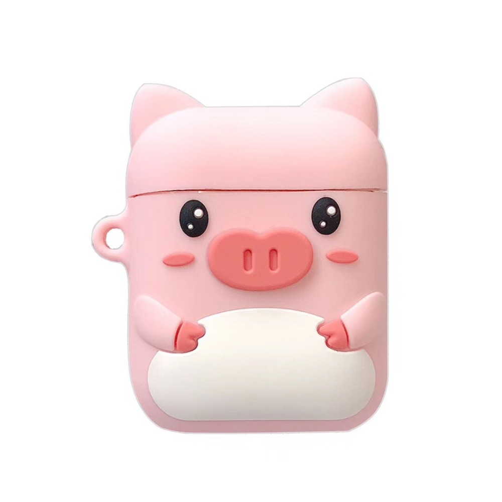 Cartoon Wireless Bluetooth Earphone Case For Apple AirPods Silicone Charging Headphones Cases For Airpods Protective Cover-in Earphone Accessories from Consumer Electronics