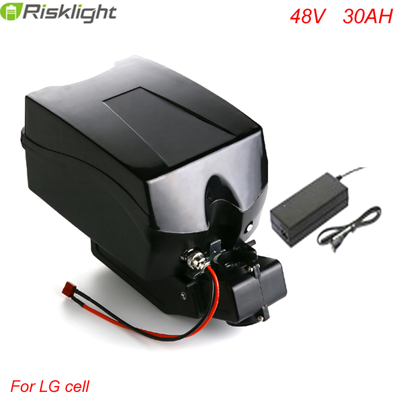 48v 30ah lithium ion ebike battery Frog  case bicycle electric bike battery 48v  1000w with charger kit  For  LG Cell ebike battery 48v 15ah lithium ion battery pack 48v for samsung 30b cells built in 15a bms with 2a charger free shipping duty