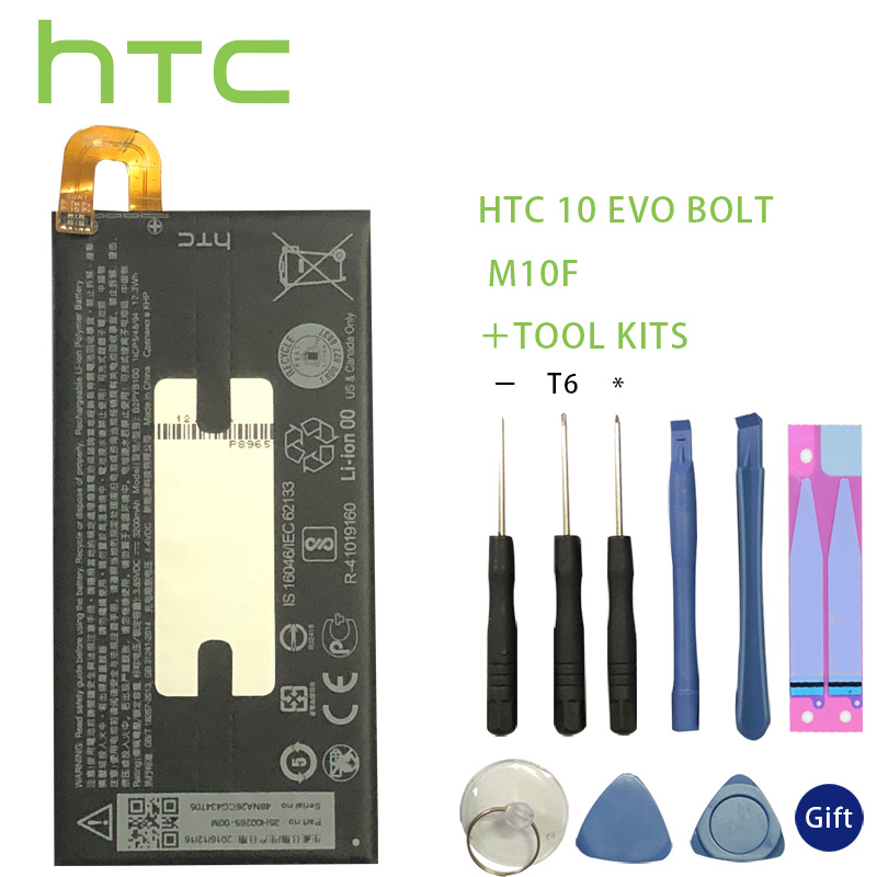 <font><b>HTC</b></font> <font><b>10</b></font> <font><b>EVO</b></font> Bolt M10f B2PYB100 <font><b>Battery</b></font> 3200mAh Backup Bateria Long Standby Time +Tools For <font><b>HTC</b></font> <font><b>10</b></font> <font><b>EVO</b></font> Bolt M10f image
