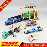 Lepin 02008 The Cargo Train Set Genuine 959Pcs City Series 60052 Building Blocks Bricks Educational Toys
