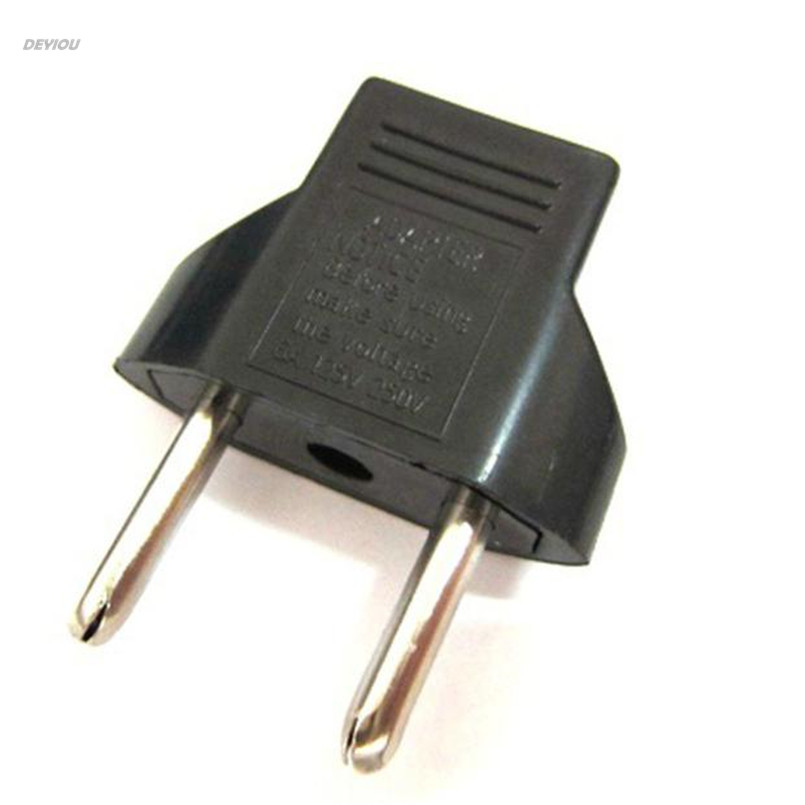 US to EU Travel AC Power Socket Plug Adapter Adapter Converter 2 Pin DEYIOU