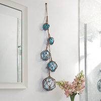 Modern Creative Simple Hemp Rope Glass Float Wall Accessories Decoration European Rustic Style Wall Hanging Ornaments Pendants
