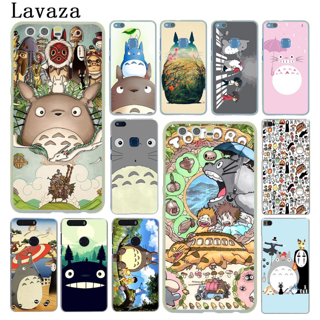 Lavaza cartoon My Neighbor Totoro Hard Case for Huawei P20 P10 P9 Plus P8 Lite Mini 2015 2016 2017 P Smart & Mate 9 10 Lite Pro ...